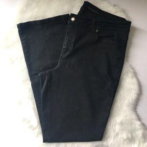 Talbots curvy boot size 18L black jeans